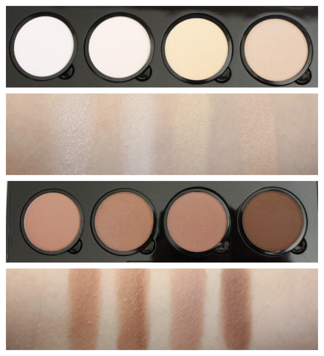 Nyx Highlight And Contour Pro Palette Swatches Beauty Makeup