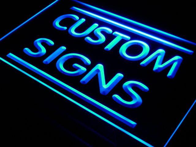 071bbcb67f74 Multi Color Remote Control Custom Neon Signs Design Your Own LED ...