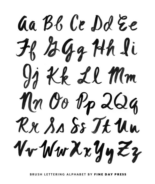 Modern Brush Lettering Tips For Beginners From Fine Day Press Oh So Beautiful Paper