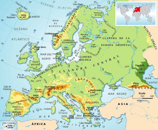 Montes Balcanes Mapa Geografico.Mapa Fisico De Europa Mapa Fisico De Europa Mapa Fisico De Espana Mapa Fisico