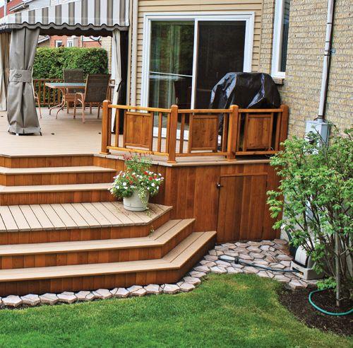 30 styles de garde-corps pour un look unique - Patio - Inspirations - plan de maison avec patio