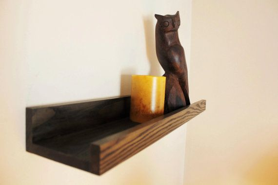Painted Or Stained Wood Ledge Shelf Three Foot By Jtwoodworks 38 00 Staining Wood Picture Shelves Wall Mounted Shelves
