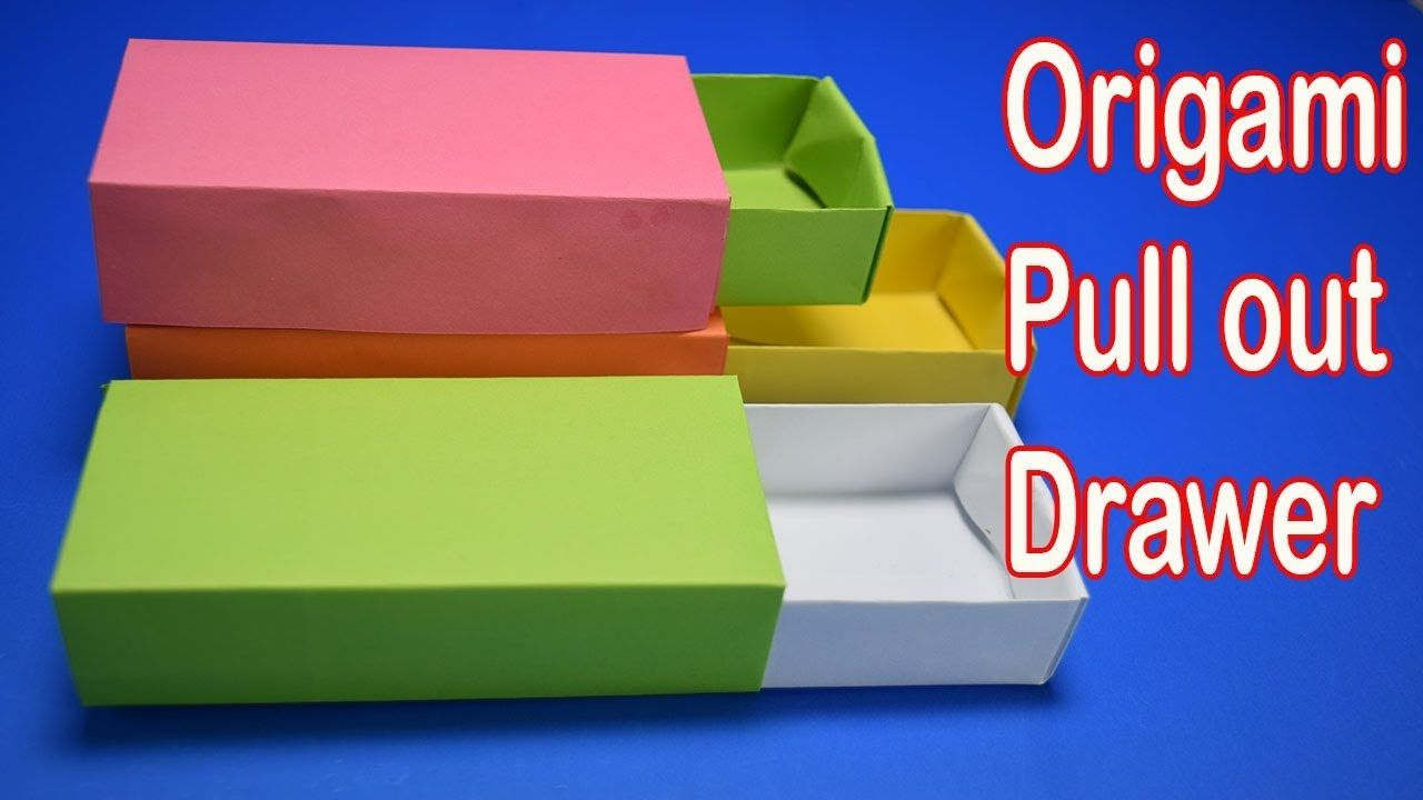 Origami Pull Out Drawer Box Tutorial I Paper Craft Parrotdiagram By Barth Dunkan Ecorigami