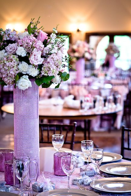 pink and silver, flowers by Stems by Serendipity