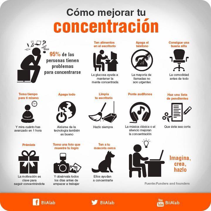 Como mejorar tu concentraci n tips pinterest - Mejorar concentracion estudio ...
