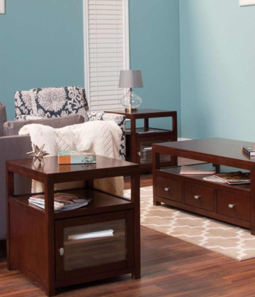 The Pacifica 3-piece Occasional Table Set Features A Clean