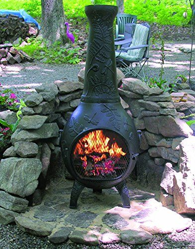 Wondrous Chiminea Outdoor Fireplace Blue Rooster Alch014 Ch Home Interior And Landscaping Ologienasavecom
