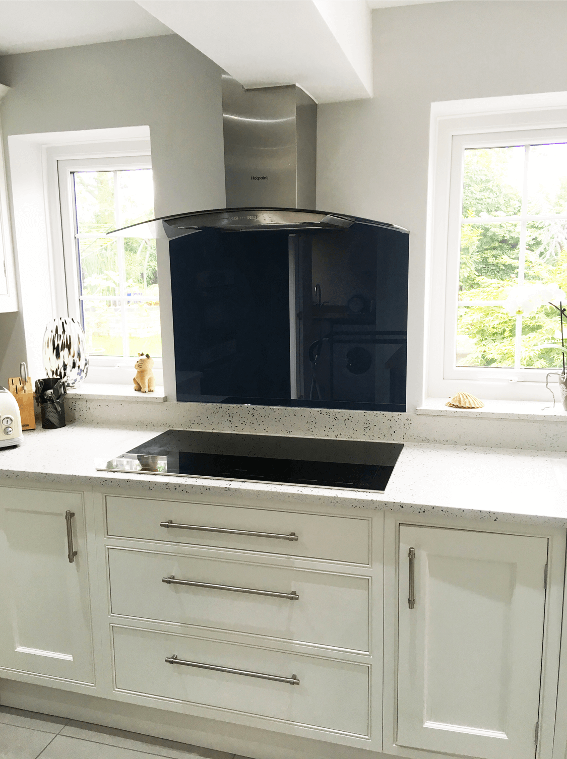 Best A Toughened Glass Splashback That Has Been Colour Matched 400 x 300