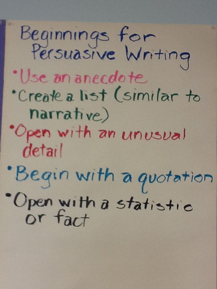 Leads to Hook Your Reader in Persuasive Writing Writer\u0027s Workshop