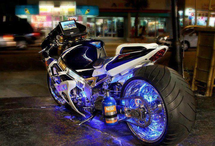 Neon Sportbike Motorcycle Sport Bikes Suzuki Gsxr