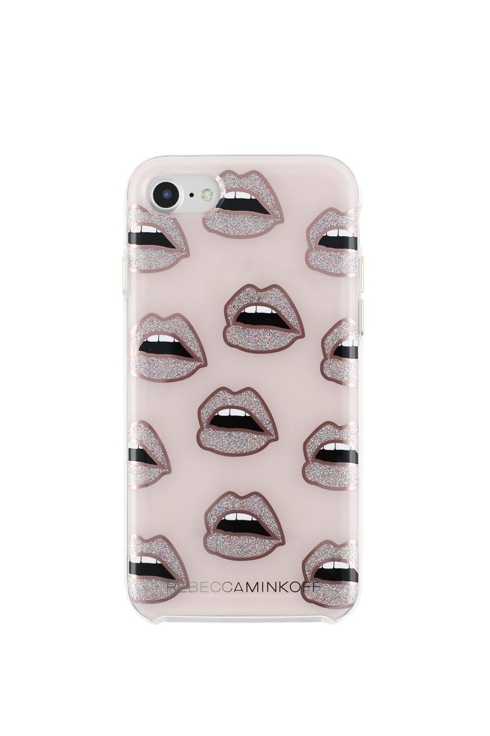 best sneakers 96dd4 ca744 REBECCA MINKOFF Glitter Lips Case For Iphone 7. #rebeccaminkoff #all ...