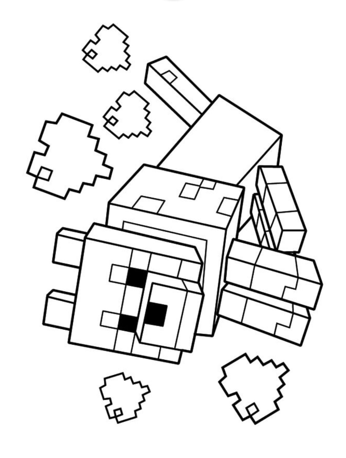 Steve Pdf Printable Coloring Page Minecraft Minecraft Coloring