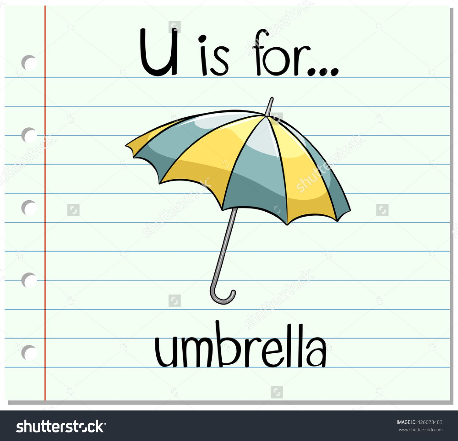 U Is For Umbrella Alphabet For Kids
