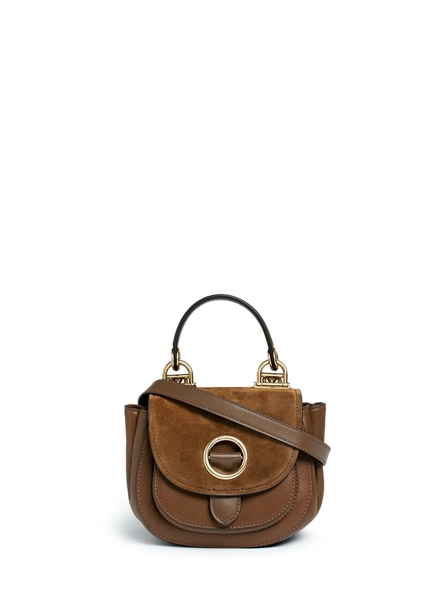 cd422298a540 MICHAEL KORS 'Isadore' small suede flap leather crossbody saddle bag. # michaelkors #bags #shoulder bags #hand bags #lining #crossbody #suede #