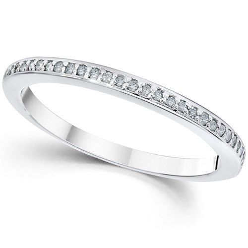 Diamond Wedding Ring 15CT Diamond Wedding Ring 14K White Gold