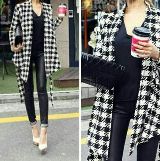 Love this cardigan and it's perfect with black leather pants!   On www.dresslink.com