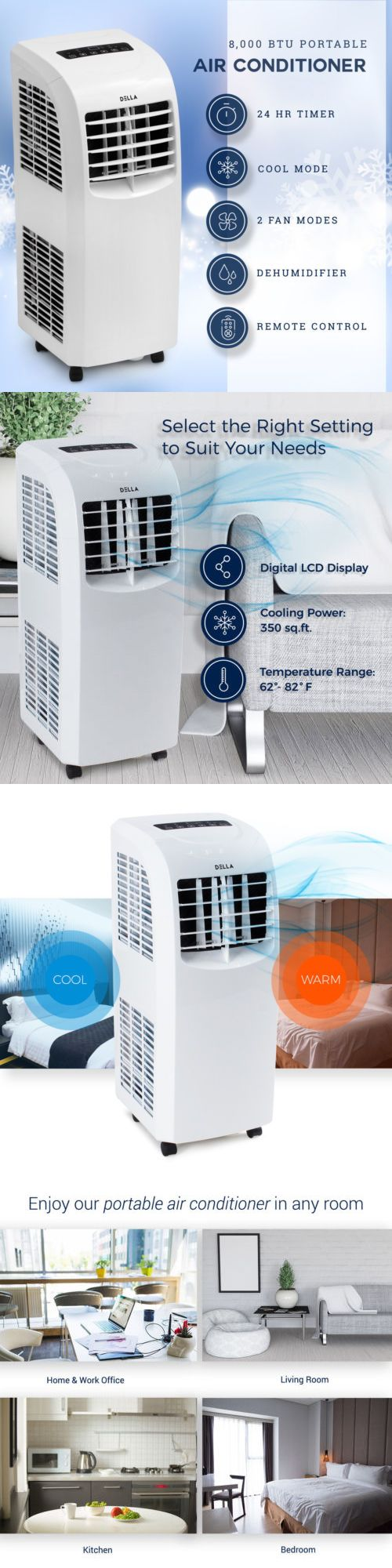 Air Conditioners and Heaters 185107 8,000 Btu Portable