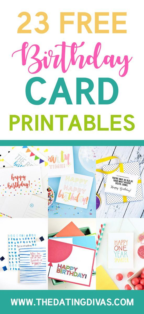 101 free birthday printable cards for everyone  the