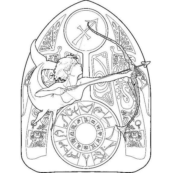 sagittarius coloring pages - photo #23