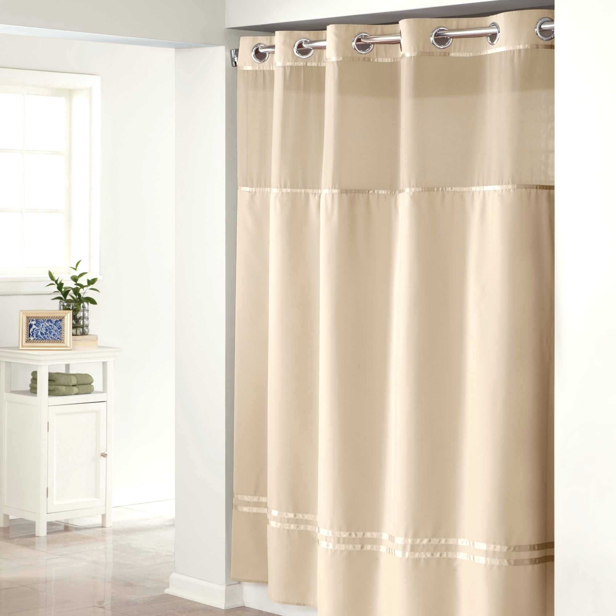 Extra Long Fabric Shower Curtain Liner