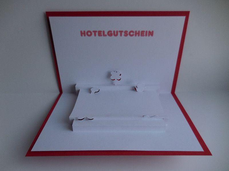 pop up karte hotel gutschein bitte bei der bestellung angeben welches bett versendet werden. Black Bedroom Furniture Sets. Home Design Ideas
