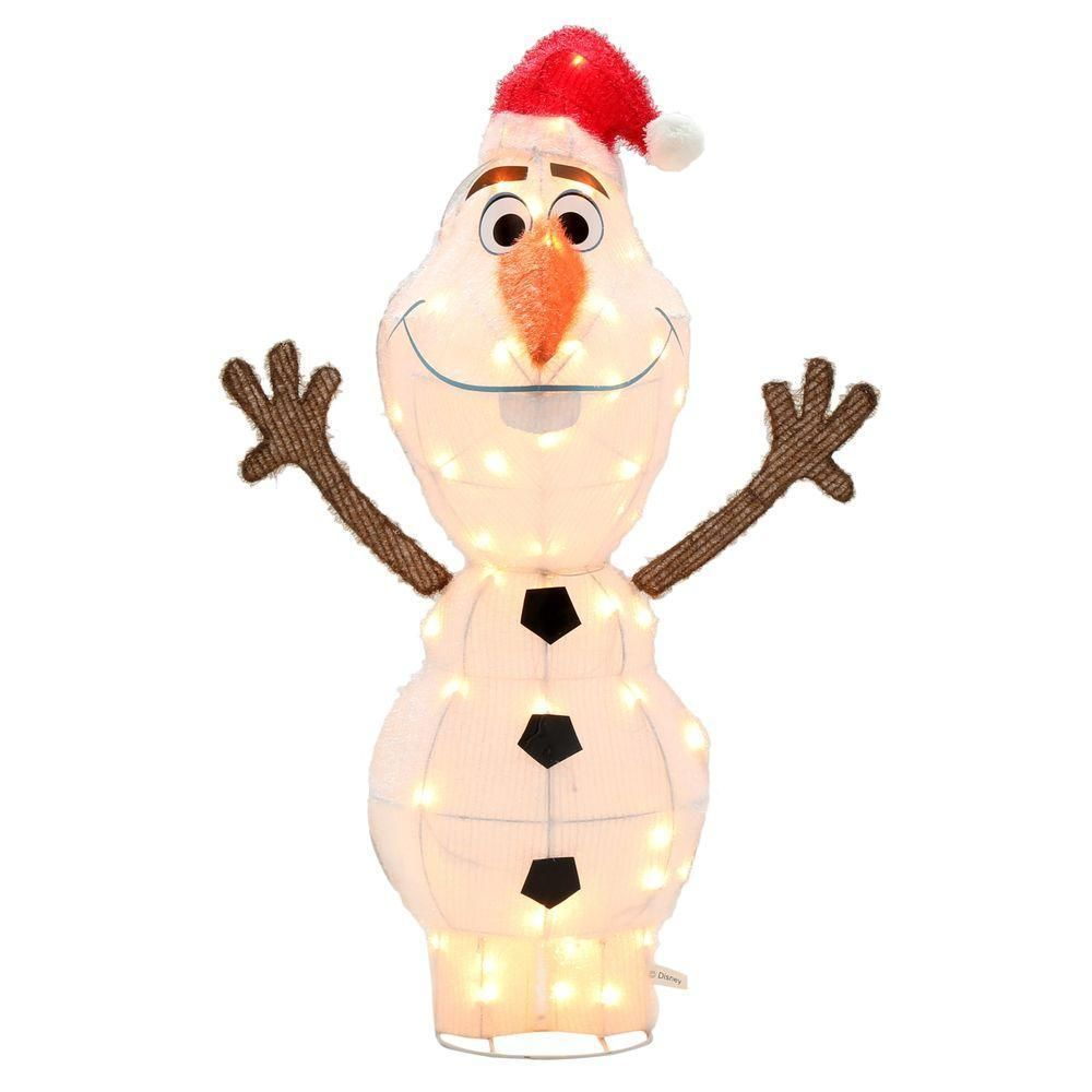42in holiday christmas outdoor frozen 3d tinsel olaf lighted - Disney Frozen Outdoor Christmas Decorations
