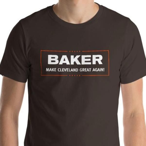 c338c300344 Baker Mayfield Make Cleveland Great Again Cleveland Brown Orange Football  Short-Sleeve Unisex T-Shirt