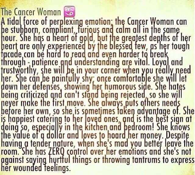 Cancer Woman- Some Of This Is Spot On- Some Not So -6992