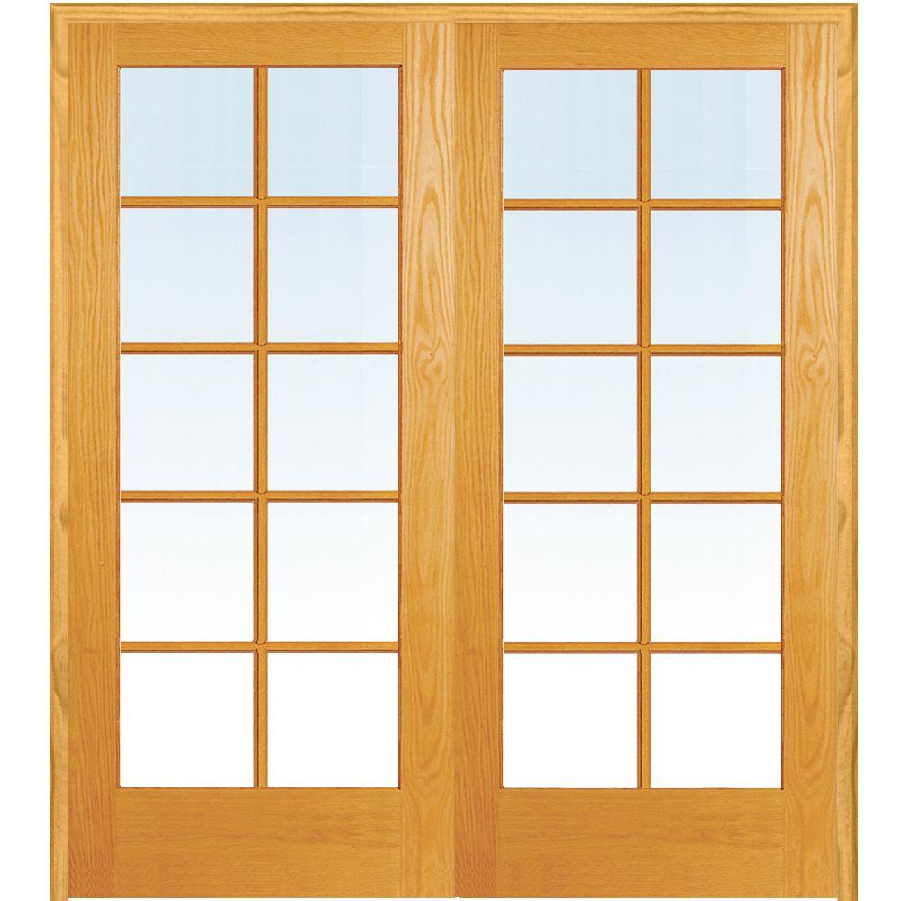 Mmi Door 48 In X 80 In Both Active Unfinished Pine Glass 10 Lite Clear True Divided Prehung Interior French Door Z019947ba The Home Depot In 2020 French Doors Interior Prehung Interior