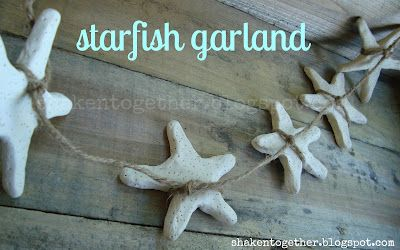 clay starfish garland.