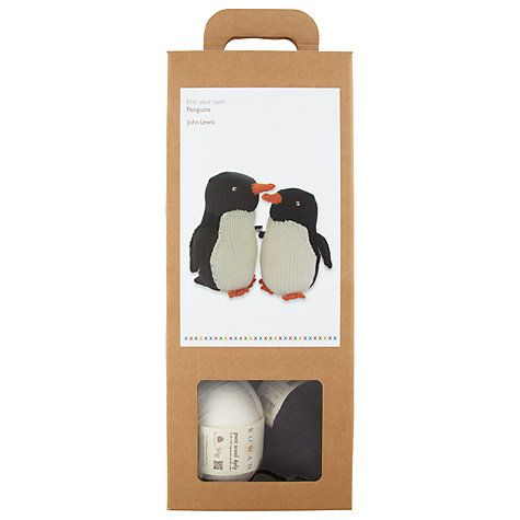 Buy John Lewis Monty & Mabel Penguin Knitting Kit Online at johnlewis.com - Buy John Lewis Monty & Mabel Penguin Knitting Kit Online At