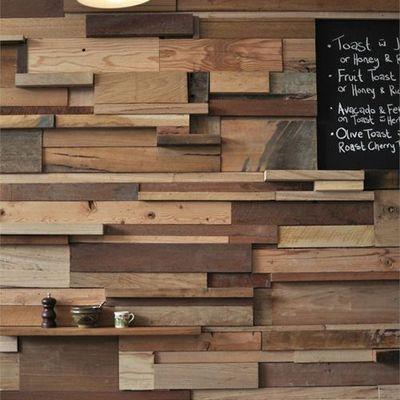 Revestimiento de madera en pared #deco #hogar Paredes que