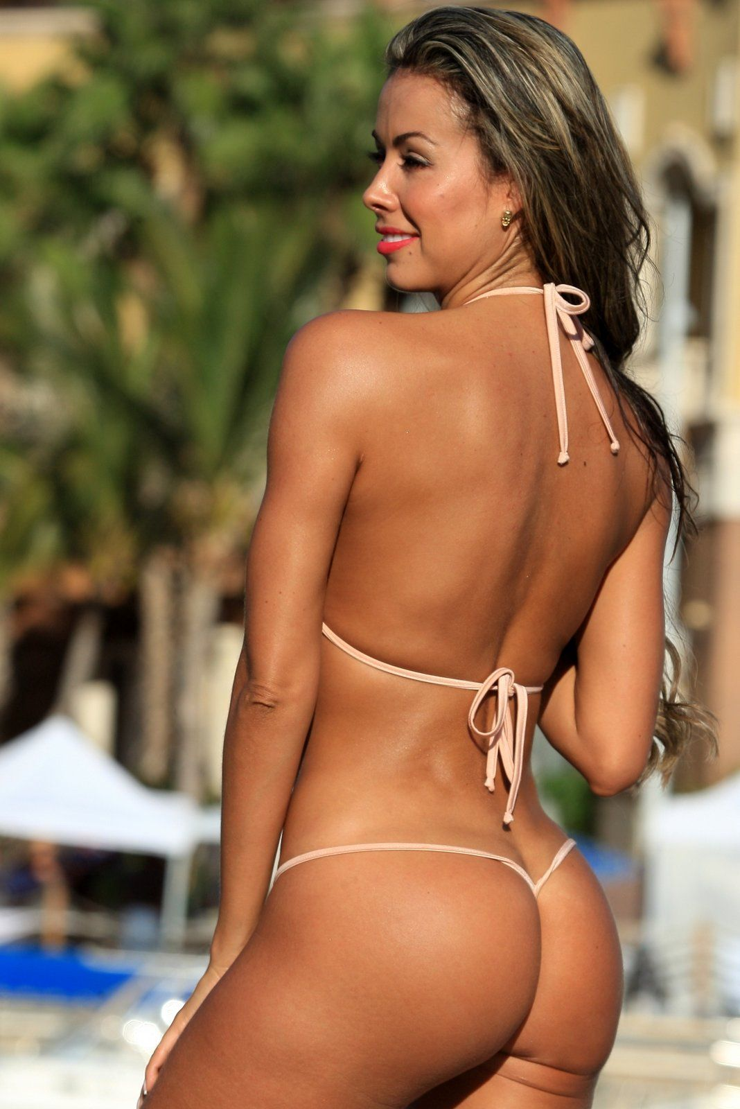Hot sexy bikini thong dancers