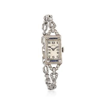 C. 1940 Vintage Tiffany Jewelry Women  s 2.00 ct. t.w. Diamond Watch With  Sapphires in Two-Tone. Size 6.5 3d4a73ff11b