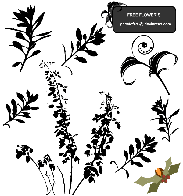 Free Vector Flower Plant Silhouettes Download Free Vector Art Vector Flowers Free Vector Art Vector Free