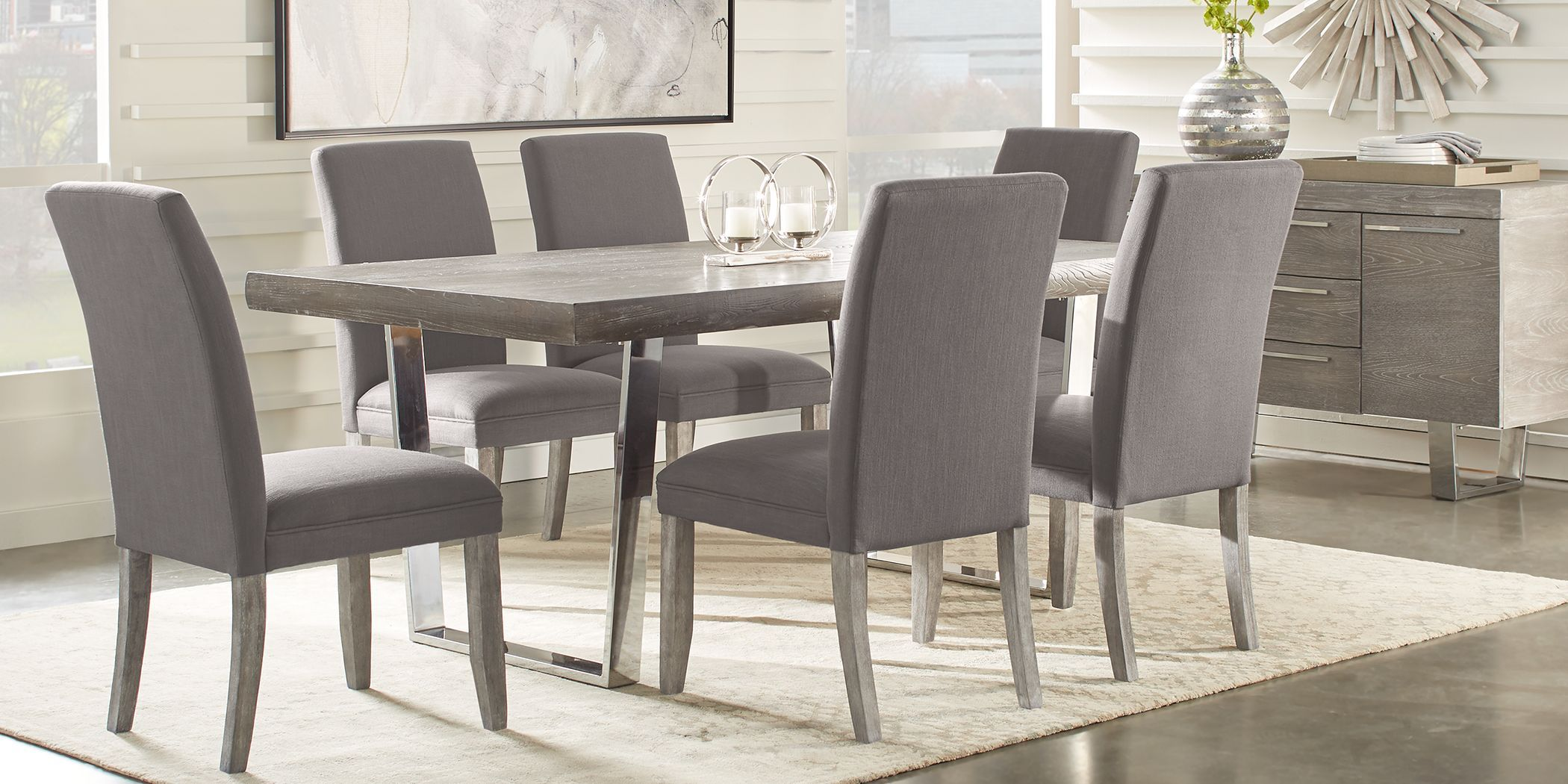 Cindy Crawford Home San Francisco Gray 5 Pc Dining Room With Charcoal Chairs In 2021 Dining Room Sets Grey Dining Tables Affordable Dining Room Sets Rooms to go dining room tables