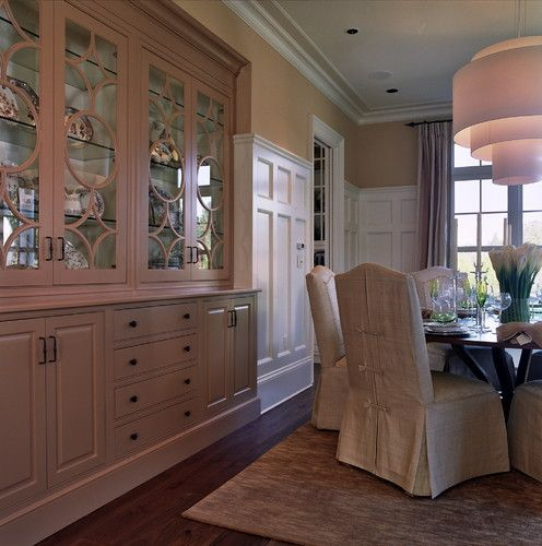 25 Dining Room Cabinet Designs Decorating Ideas: Custom Built-in China Cabinet. I Love The Fancy Glass Door