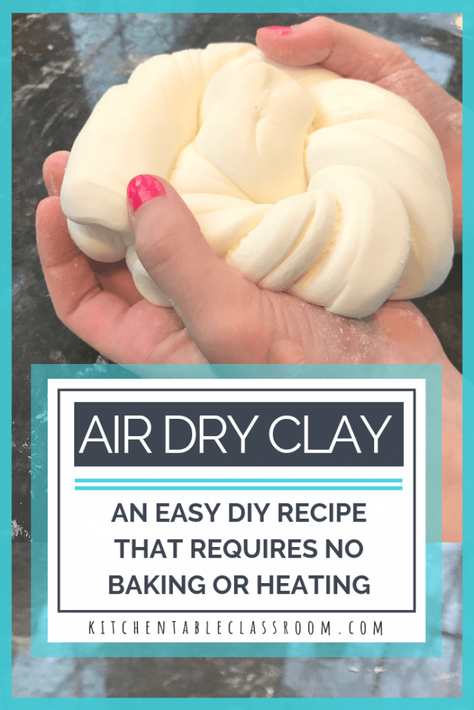 Air Dry Clay- An Easy DIY Clay Recipe #craft