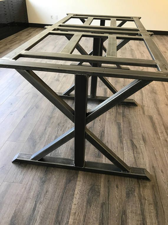 Modern Industrial Conference Dining Trestle Table Legs Model