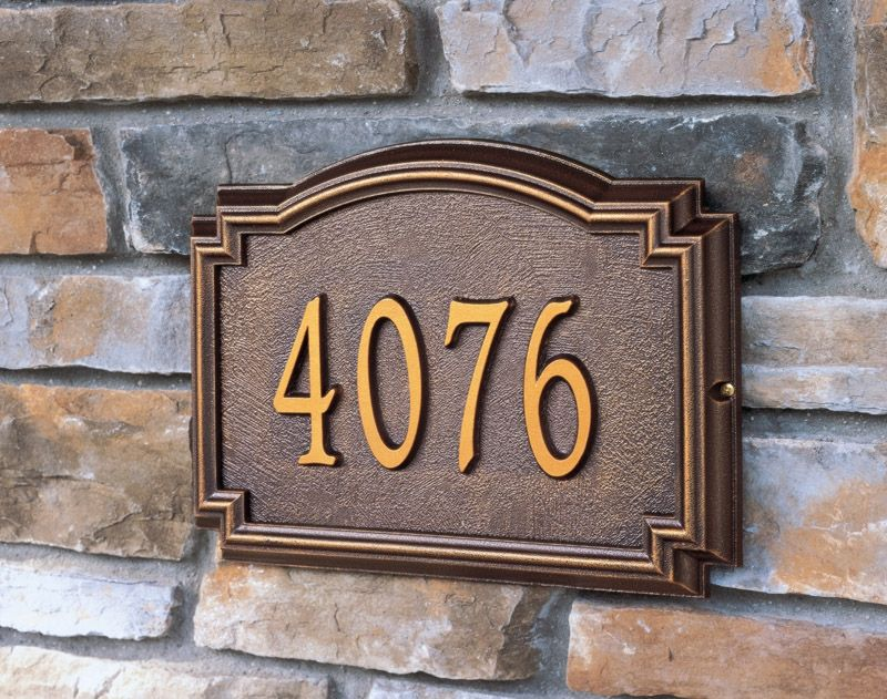 How Do They Determine Address Numbers Address Plaque House