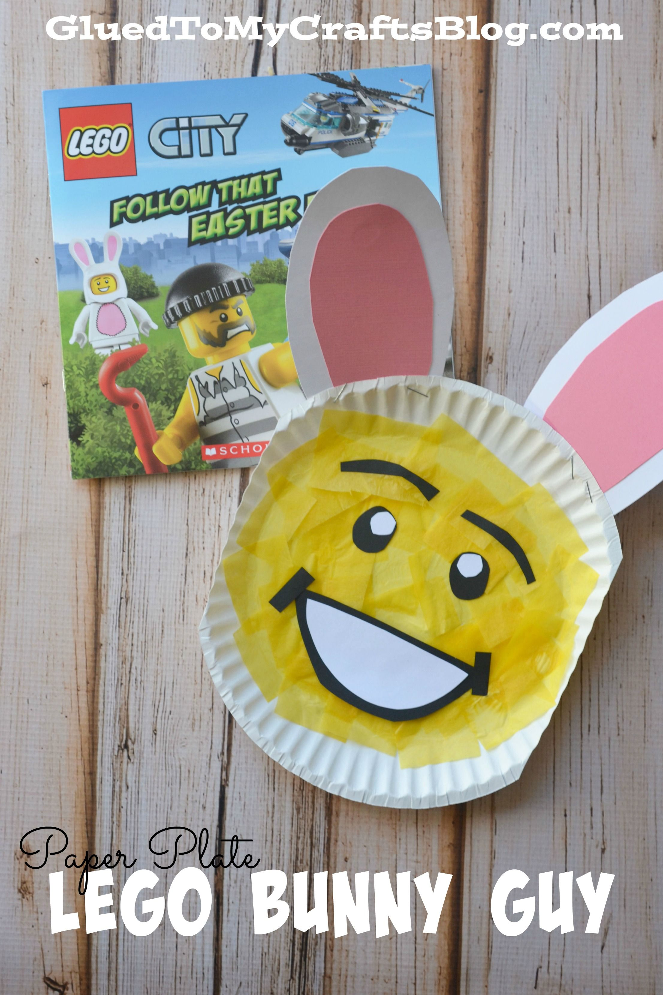 Paper plate lego bunny guy kid craft crafts paper and bunnies