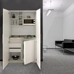 Photo of Respekta armadio cucina Skwwmic (104 cm, con piano cottura in vetroceramica, bianco) Respekta