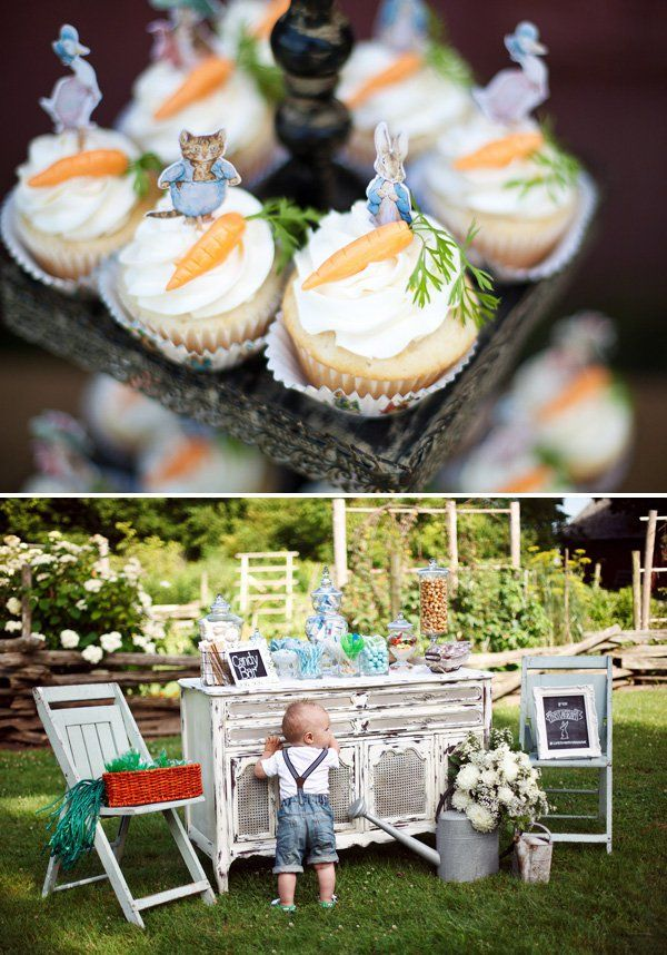 Gorgeous Peter Rabbit First Birthday {Garden Party #boybirthdayparties