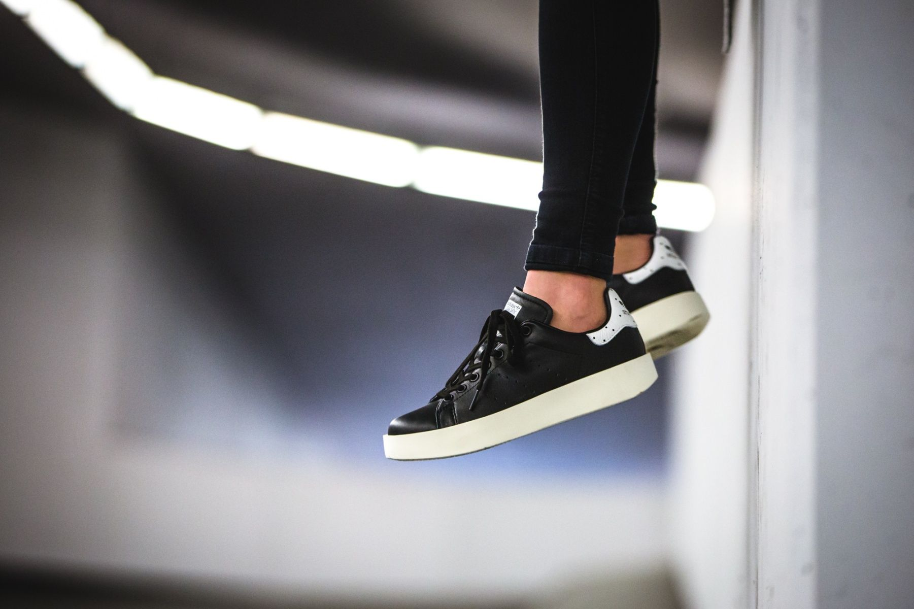 adidas stan smith bold negras