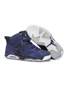 Nike Air Jordan 6 VI Retro Mens Shoes Royal Blue Black  f6d3019afc32