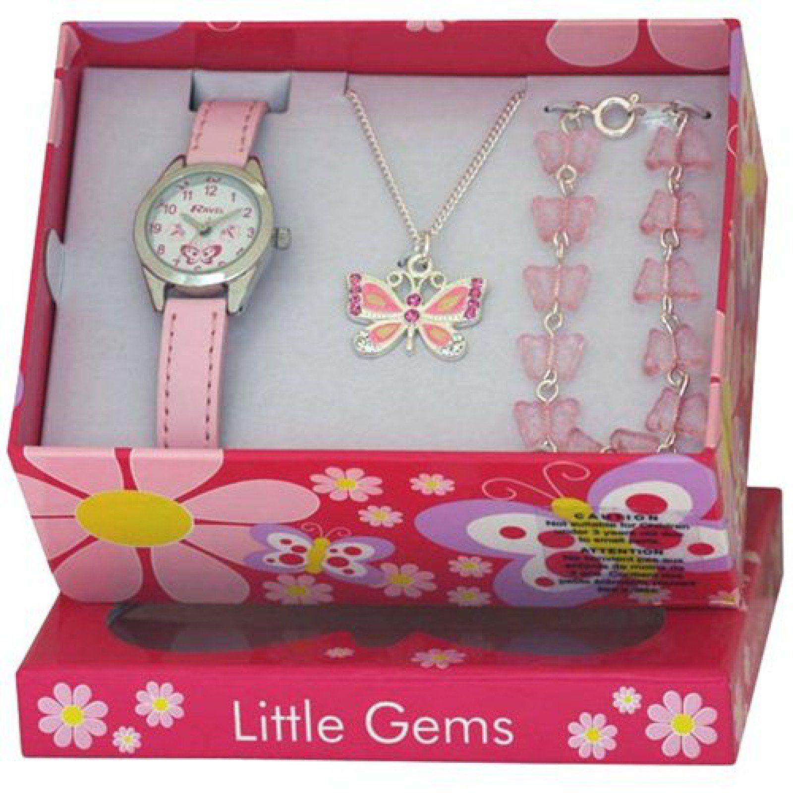 Ravel Little Gems Kids Butterfly Watch & Jewellery Gift Set For
