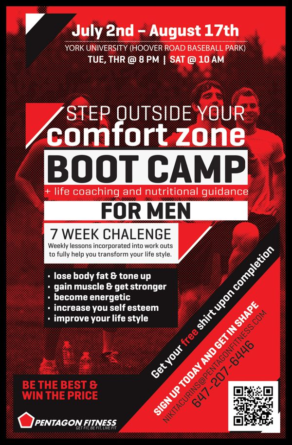 PENTAGON FITNESS bootcamp flyers Personal Training Stuff