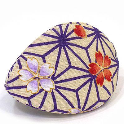 貝のジュエリーケース 麻の葉さくら 紫