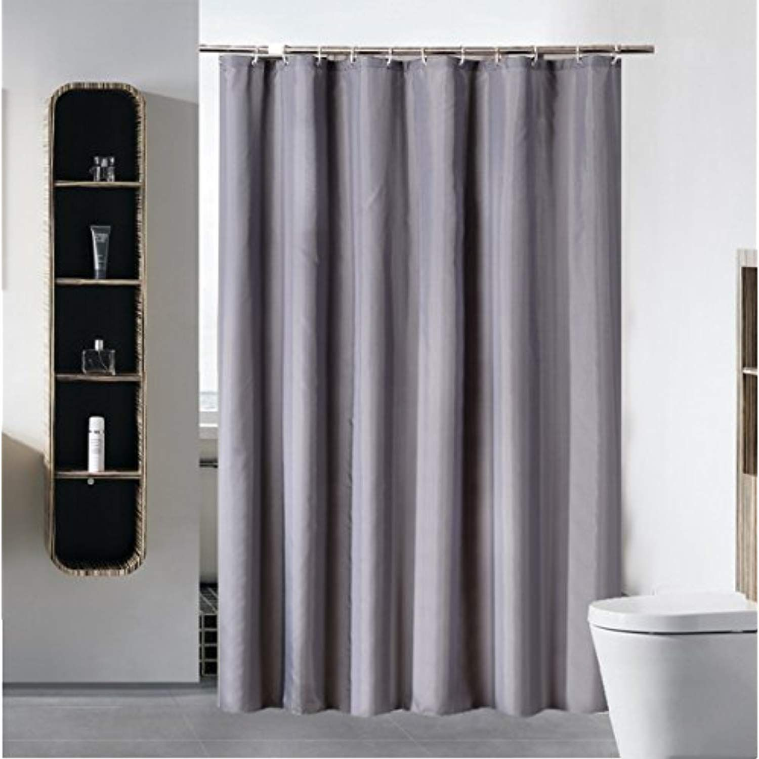 Shower Curtain Liner For Bathroom Water Repellent Fabric Mildew