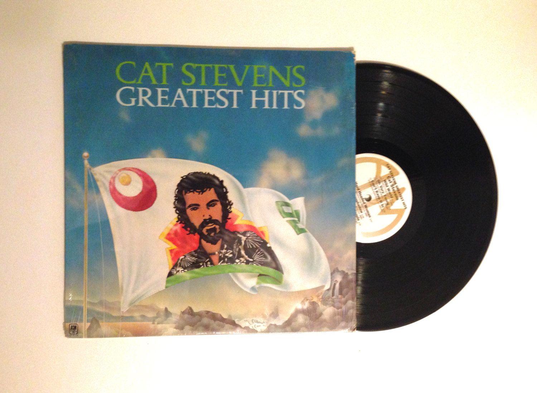 Cat Stevens Greatest Hits LP Album 80s Reissue Classic Folk Rock Wild World Peace Train Morning Has Broken Vinyl Record